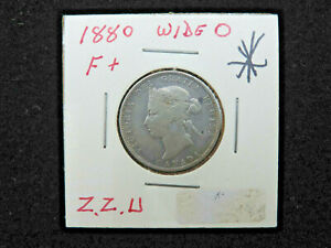 1880H 25 CENT COIN CANADA QUEEN VICTORIA WIDE