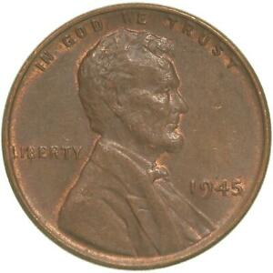 1945 LINCOLN WHEAT CENT ABOUT UNCIRCULATED PENNY AU