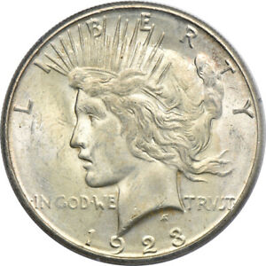 1923 S PEACE DOLLAR MS 62 PCGS S$1 C00048938