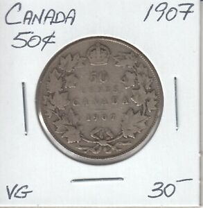 CANADA 50 CENTS 1907   VG