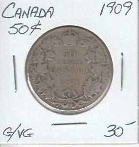 CANADA 50 CENTS 1909   G/VG