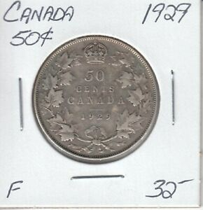 CANADA 50 CENTS 1929   F