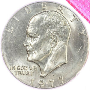 1977 D EISENHOWER BU DOLLAR US MINT CELLO IKE COIN
