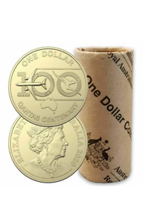 2020 QANTAS CENTENARY 100 YEARS $1 ONE DOLLAR COINS FROM MINT ROLL FREE POST