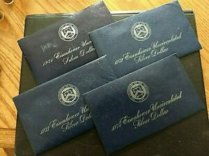 UNITED STATES BLUE IKES 1971 1974 IN ORIGINAL HOLDERS 40  SILVER