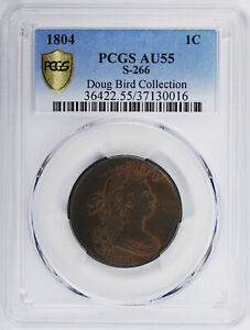 Click now to see the BUY IT NOW Price! 1804 DRAPED BUST 1C PCGS AU 55 BN