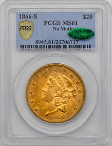 Click now to see the BUY IT NOW Price! 1866 S LIBERTY HEAD $20 PCGS MS 61