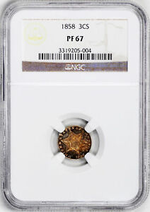 Click now to see the BUY IT NOW Price! 1858 SILVER 3CS NGC PR 67