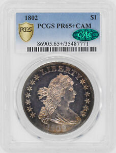 Click now to see the BUY IT NOW Price! 1802 DRAPED BUST $1 PCGS PR 65  CAM