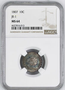 Click now to see the BUY IT NOW Price! 1807 DRAPED BUST 10C NGC MS 64
