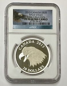 Click now to see the BUY IT NOW Price! 2013 CANADA BALD EAGLE $20 E/R NGC PF70 ULTRA CAMEO