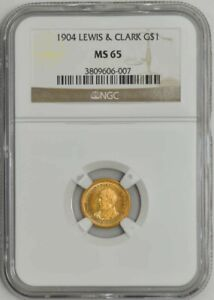 Click now to see the BUY IT NOW Price! 1904 $ GOLD LEWIS & CLARK DOLLAR MS65 NGC 932891 46