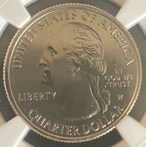 Click now to see the BUY IT NOW Price! 2019 W QUARTER SAN ANTONIO 25C MINT ERROR HUGE OBVERSE STRUCK THRU NGC
