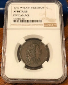Click now to see the BUY IT NOW Price! 1793 WREATH CENT. NGC. XF DETAILS REVERSE DAMAGE. VINE & BARS