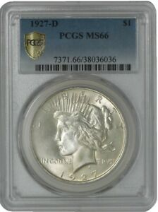 Click now to see the BUY IT NOW Price! 1927 D PEACE DOLLAR $ MS66 SECURE PLUS PCGS 942128 4