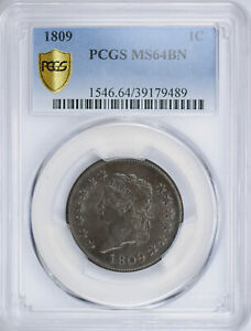 Click now to see the BUY IT NOW Price! 1809 CLASSIC HEAD 1C PCGS MS 64 BN