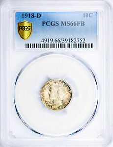 Click now to see the BUY IT NOW Price! 1918 D MERCURY 10C PCGS MS 66 FB