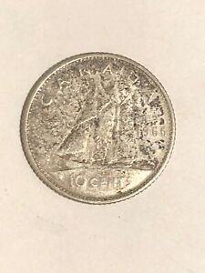 1966   CANADA SILVER DIME   CANADIAN 10 CENT COIN