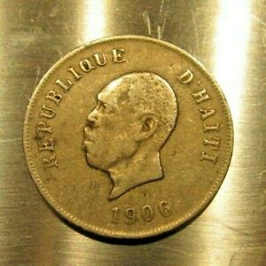 OLD COIN HAITI 10 CENTIMES 1906 GENERAL PIERRE NORD ALEXIS