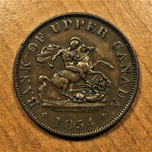 Click now to see the BUY IT NOW Price! 1854 CANADA UPPER CANADA 1/2 PENNY KM TN2 AU