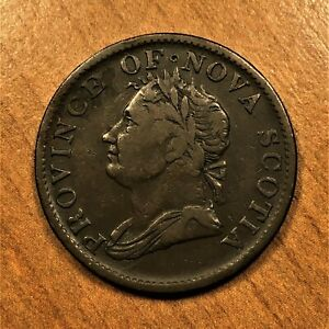 Click now to see the BUY IT NOW Price! 1832 CANADA NOVA SCOTIA HALFPENNY TOKEN KM 1 EXTRA NICE