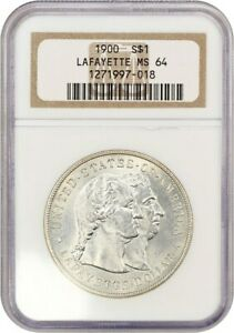 1900 LAFAYETTE $1 NGC MS64   THE ONLY $1 CLASSIC COMMEM