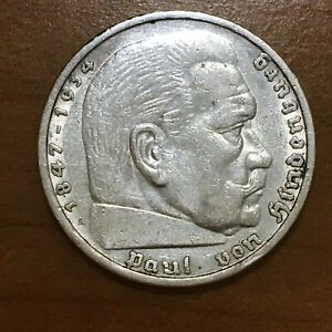 Click now to see the BUY IT NOW Price! 1935 A GERMANY   THIRD REICH 5 REICHSMARK SILVER COIN KM 86 XF 2624