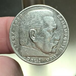 Click now to see the BUY IT NOW Price! 1935 F GERMANY   THIRD REICH 5 REICHSMARK SILVER COIN KM 86 XF 2626