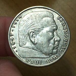 Click now to see the BUY IT NOW Price! 1936 A GERMANY   THIRD REICH 5 REICHSMARK SILVER COIN KM 86 VF/XF 2629