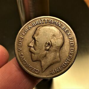 Click now to see the BUY IT NOW Price! 1919 KN GREAT BRITAIN PENNY KING GEORGE V KM 810 NICE