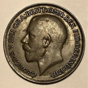 Click now to see the BUY IT NOW Price! 1915 GREAT BRITAIN PENNY GEORGE V KM 810 AU  2668