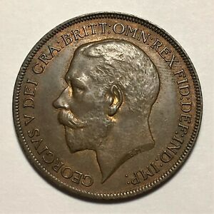 Click now to see the BUY IT NOW Price! 1921 GREAT BRITAIN PENNY GEORGE V KM 810 AU   2674