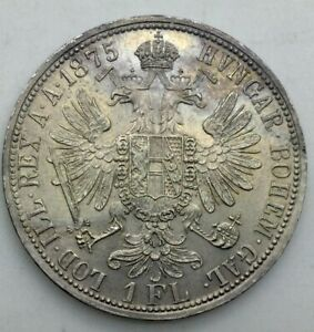 Click now to see the BUY IT NOW Price! AUSTRIA 1875 ONE FLORIN FRANZ JOSEF FULLY LUSTROUS NICELY  TONED KM2222