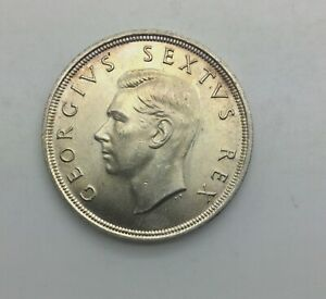 Click now to see the BUY IT NOW Price! 1952 GEORGE VI  SOUTH AFRICA 5 SHILLINGS SAILING SHIP GORGEOUS  BU