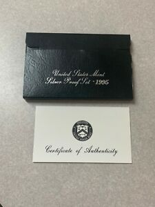1995 SILVER PROOF SET  BOX/COA ONLY
