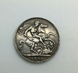 Click now to see the BUY IT NOW Price! 1898 LXII VICTORIA OLD HEAD SILVER CROWN DECENT GRADE  EXAMPLE