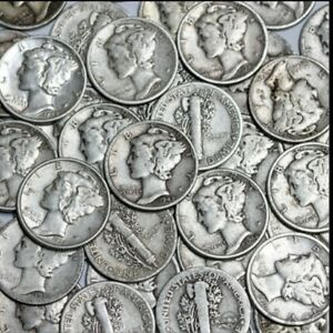MERCURY DIME   LOT OF 1   VISIBLE DATE CIRCULATED 90  SILVER MERCURY DIMES