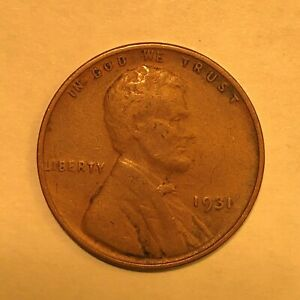 1931 LINCOLN WHEAT PENNY   NICE COIN