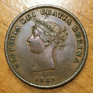 Click now to see the BUY IT NOW Price! 1843 NEW BRUNSWICK  CANADA  1/2 PENNY TOKEN VICTORIA EXTRA NICE