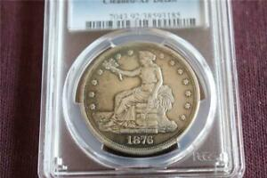 COINS: 1876 S TRADE DOLLAR PCGS GENUINE CLEANED   XF DETAIL