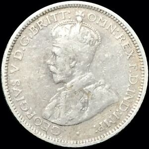1926 AUSTRALIA SIXPENCE 6P KM 25 FOREIGN SILVER COIN GEORGE V