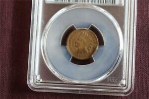 COINS: 1909 S INDIAN HEAD CENT PCGS GRADED GENUINE CLEANED   VF DETAIL