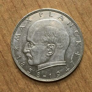Click now to see the BUY IT NOW Price! 1957 J GERMANY   FEDERAL REPUBLIC 2 MARKS COIN KM 116 AU/UNC.  2833