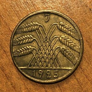Click now to see the BUY IT NOW Price! 1925 J GERMANY   WEIMAR REPUBLIC 10 REICHSPFENNIG KM 40 AU  2835