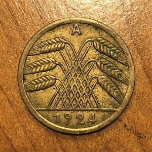 Click now to see the BUY IT NOW Price! 1924 A GERMANY   WEIMAR REPUBLIC 50 RENTENPFENNIG KM 34 XF  2837