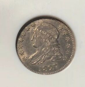 1827 CAPPED BUST DIME NGC AU 58