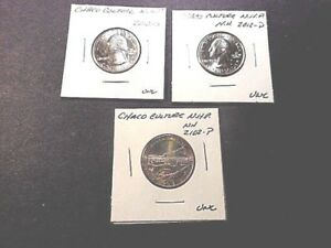 3 2012 AMERICA THE BEAUTIFUL QUARTERS CHACO CULTURE N.H.P. UNC. COND.