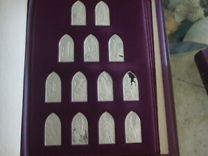 Click now to see the BUY IT NOW Price! BOOKS OF THE JEWISH BIBLE BY FRANKLIN MINT STERLING SILVER
