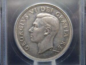 Click now to see the BUY IT NOW Price! 1948 $1 CANADA SILVER DOLLAR $1 ICG MS60 UNC DETAILS  MINTAGE 18 780   ECC&C INC
