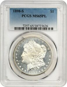 Click now to see the BUY IT NOW Price! 1898 S $1 PCGS MS65 PL   FLASHY BETTER DATE   MORGAN SILVER DOLLAR